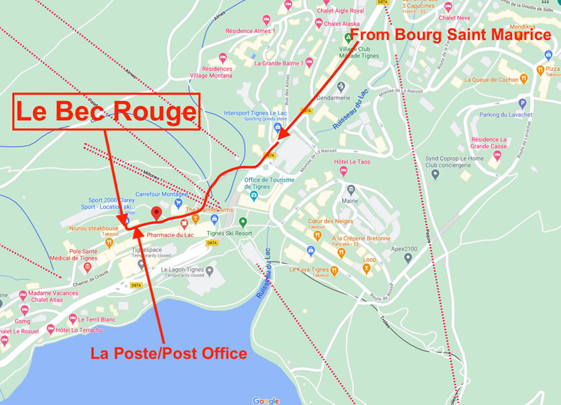 Bec Rouge Map