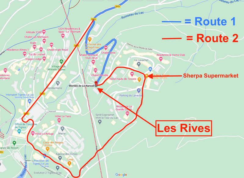 Les Rives Location Map
