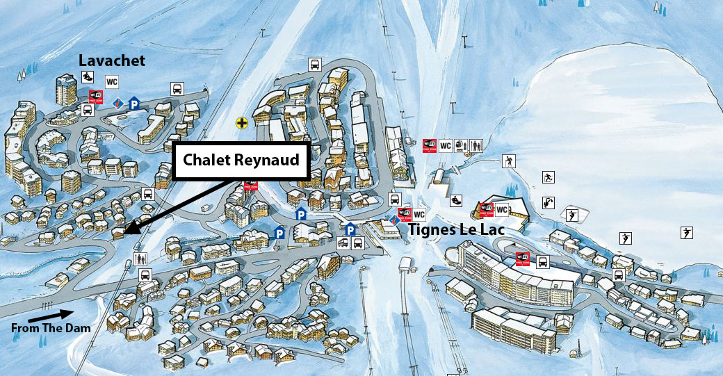3 Chalet Reynaud Location Map